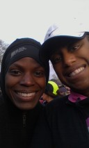 Philadelphia (Half) Marathon with my cousin Alleya